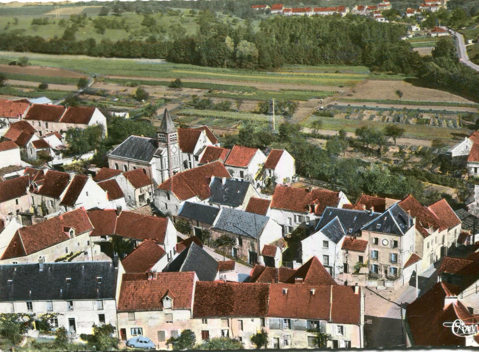 Vue aérienne de Monneaux